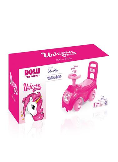 Dolu Dolu Unicorn Bingit Pedalsız Araba Pembe 2522 Renkli